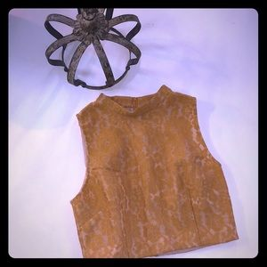 NWT KEEPSAKE the Label Sleeveless Lace Crop Top L